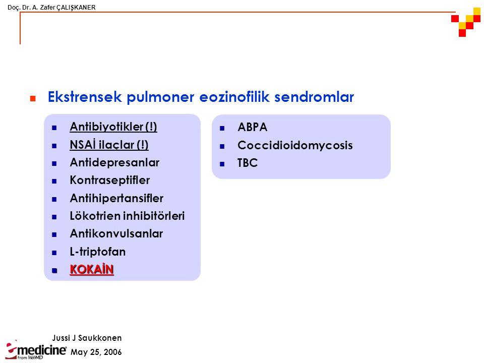 Ekstrensek pulmoner eozinofilik sendromlar