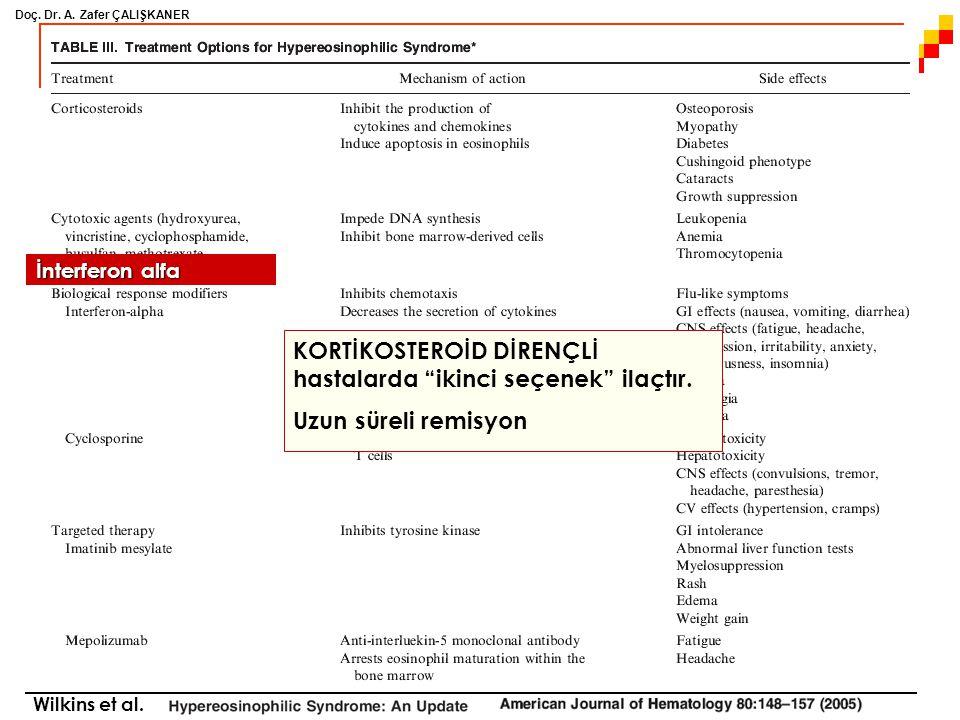 KORTİKOSTEROİD DİRENÇLİ hastalarda ikinci seçenek ilaçtır.