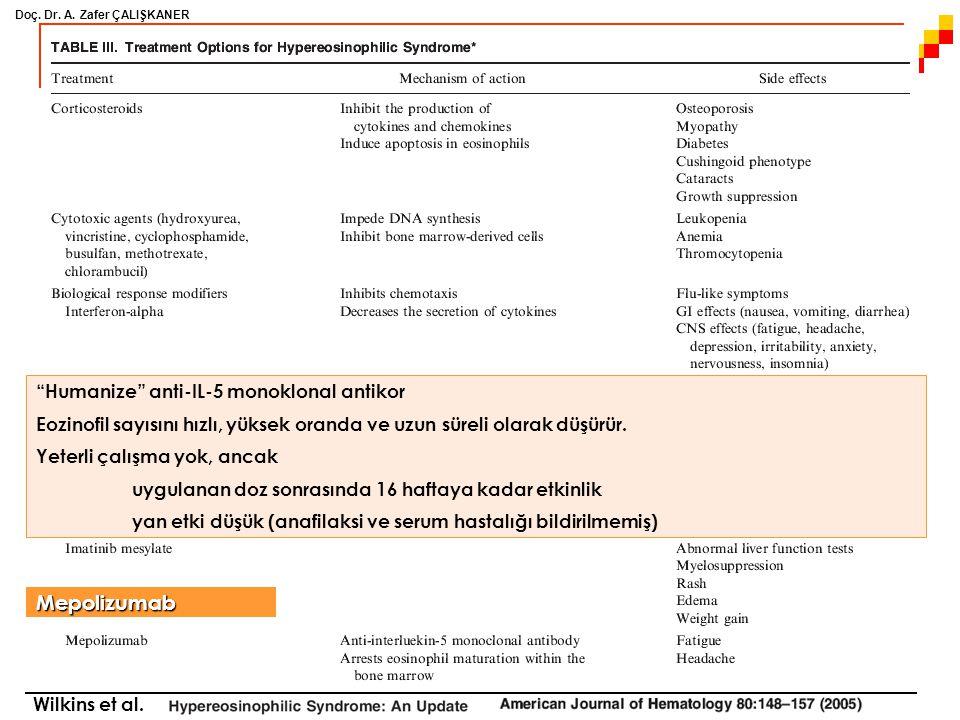 Mepolizumab Humanize anti-IL-5 monoklonal antikor