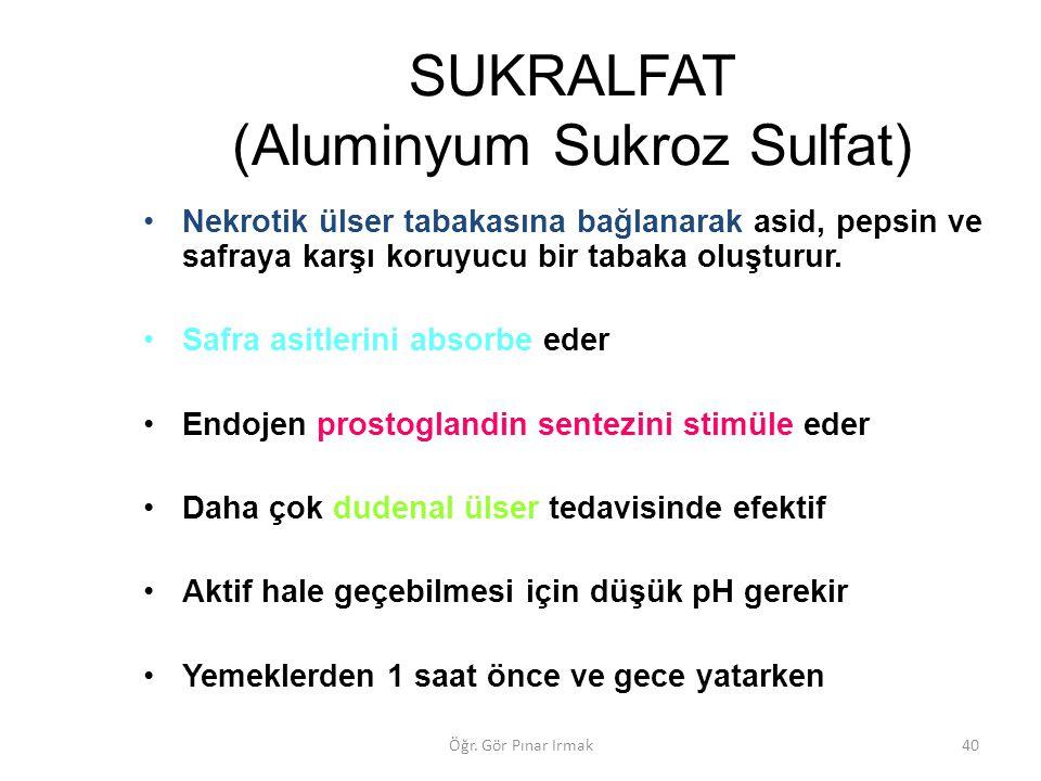 SUKRALFAT (Aluminyum Sukroz Sulfat)