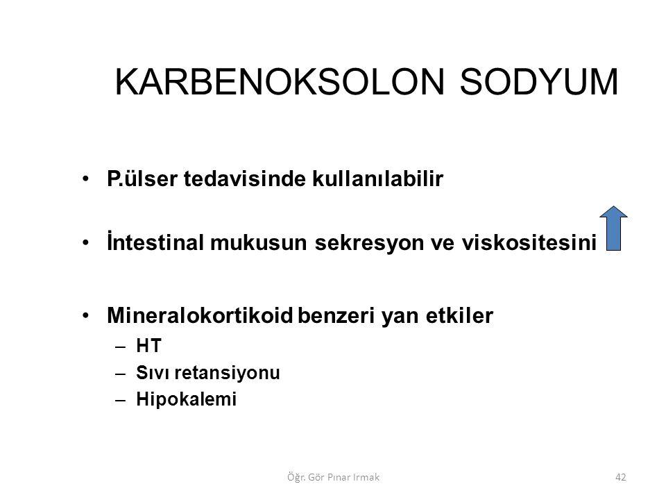 KARBENOKSOLON SODYUM P.ülser tedavisinde kullanılabilir