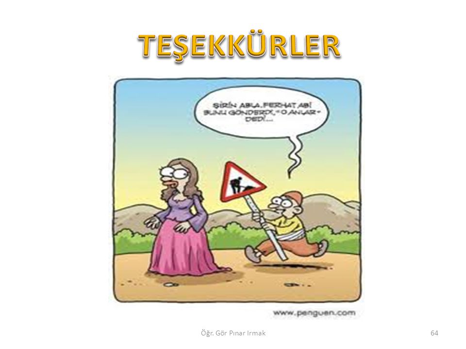 TEŞEKKÜRLER Öğr. Gör Pınar Irmak