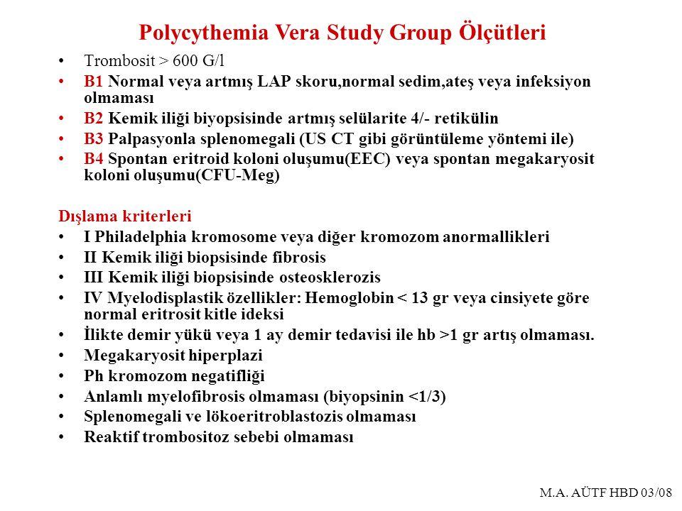 Polycythemia Vera Study Group Ölçütleri
