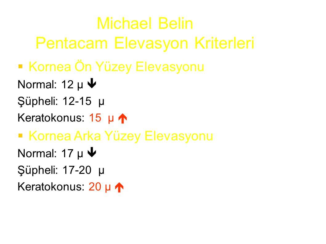 Michael Belin Pentacam Elevasyon Kriterleri