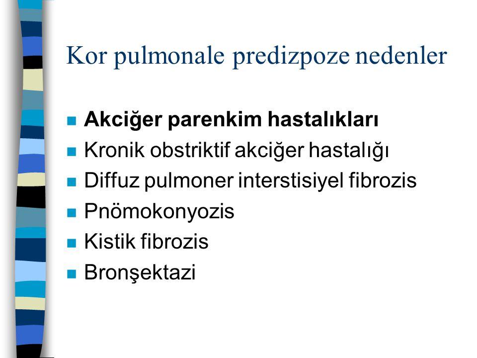 Kor pulmonale predizpoze nedenler