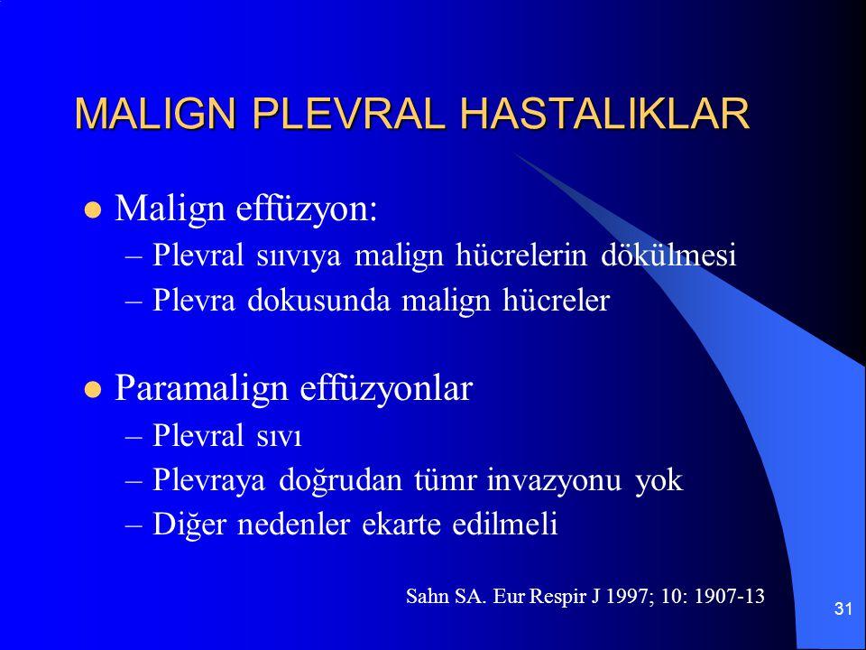 MALIGN PLEVRAL HASTALIKLAR