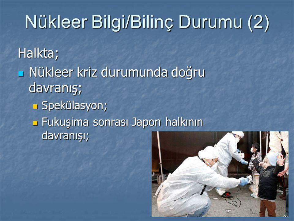 Nükleer Bilgi/Bilinç Durumu (2)