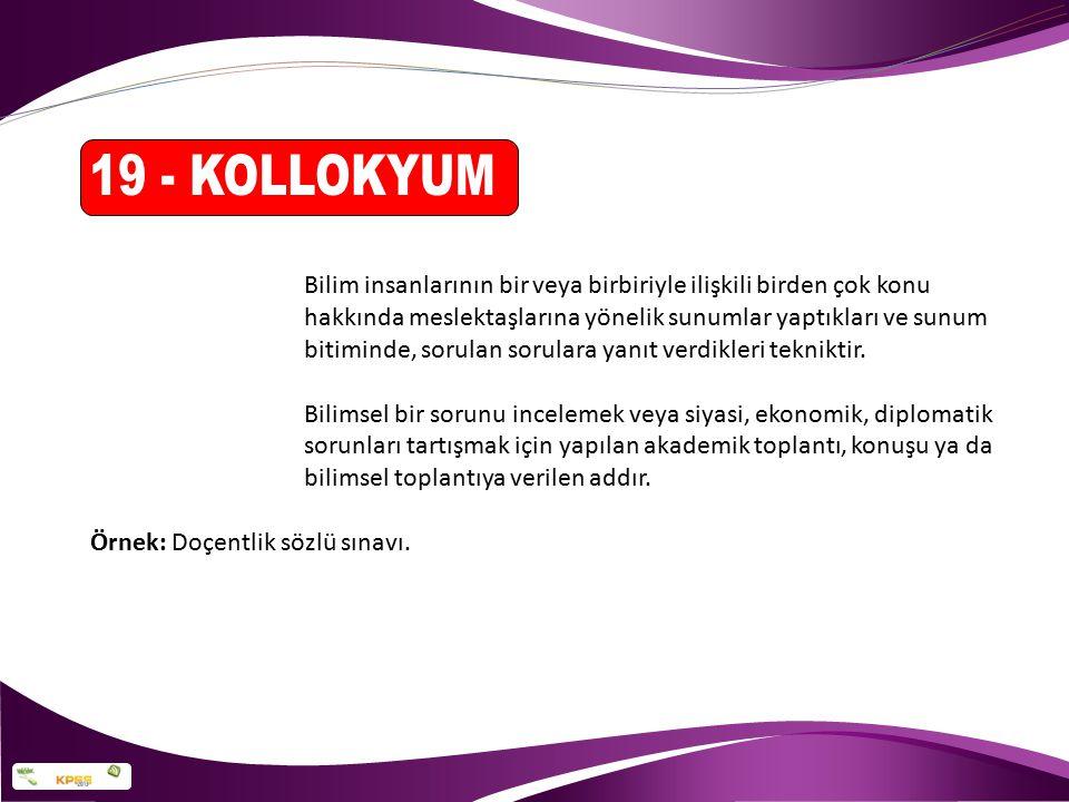 19 - KOLLOKYUM