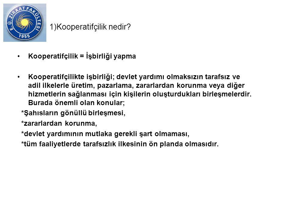 1)Kooperatifçilik nedir