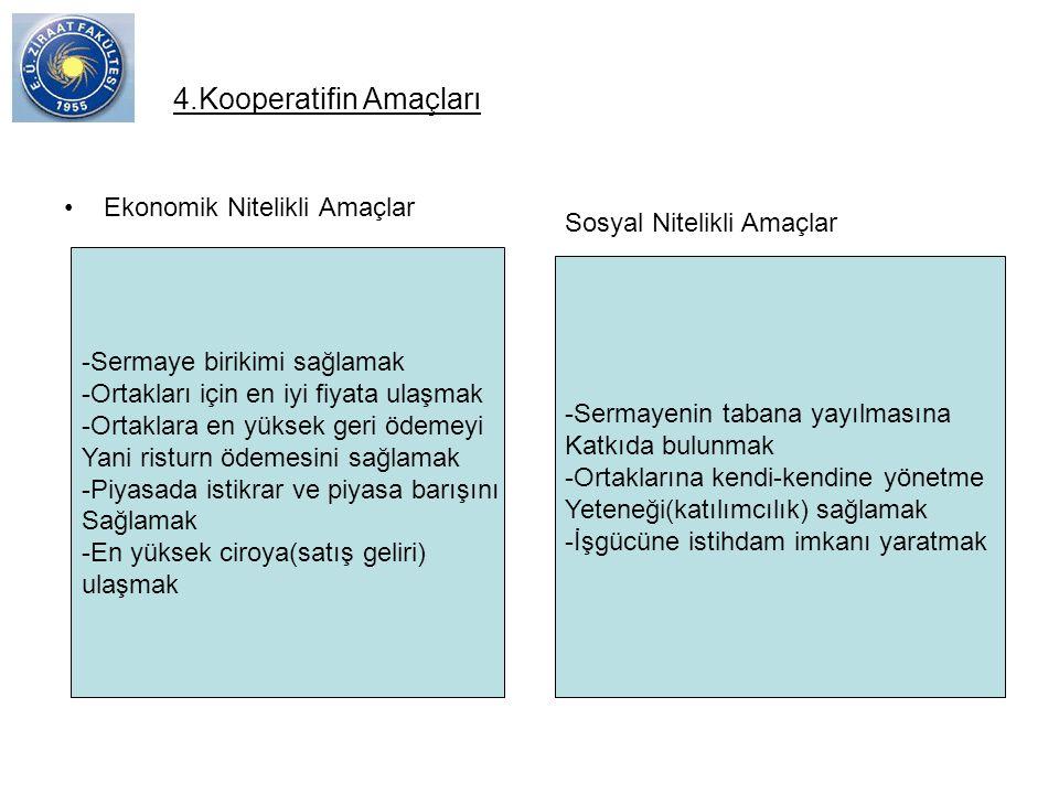 4.Kooperatifin Amaçları