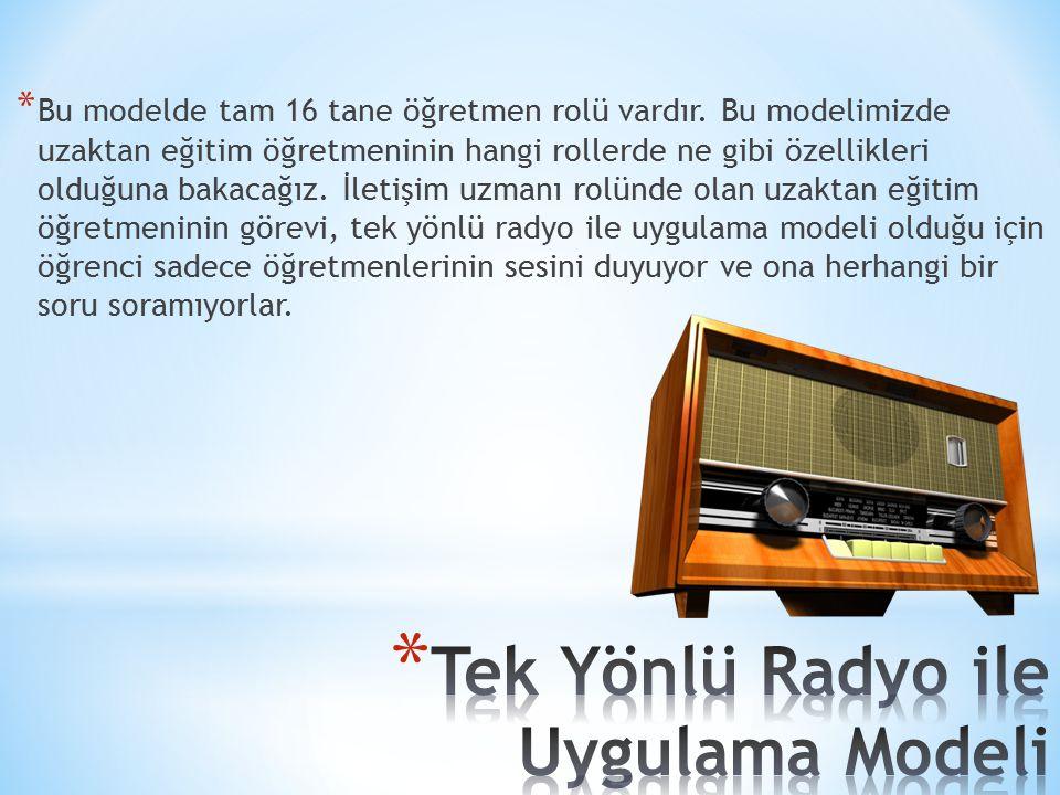 Tek Yönlü Radyo ile Uygulama Modeli