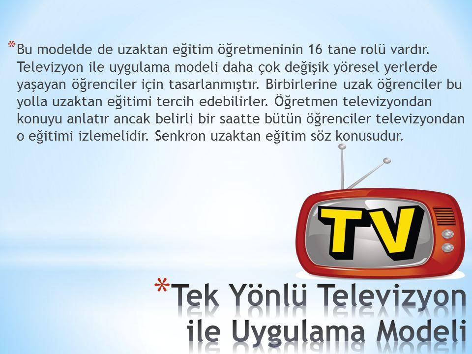 Tek Yönlü Televizyon ile Uygulama Modeli