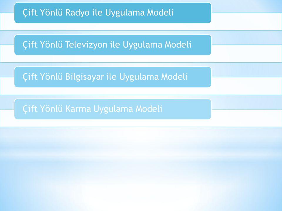 Çift Yönlü Radyo ile Uygulama Modeli
