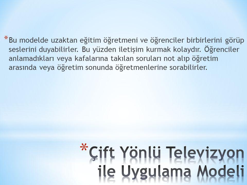 Çift Yönlü Televizyon ile Uygulama Modeli