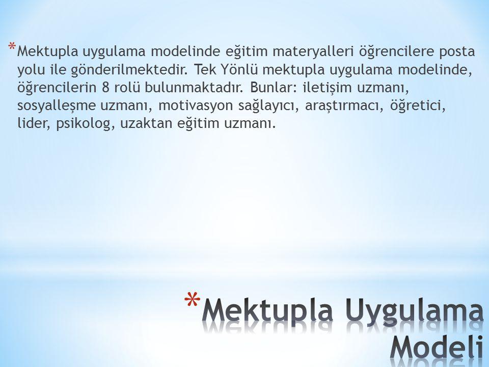 Mektupla Uygulama Modeli