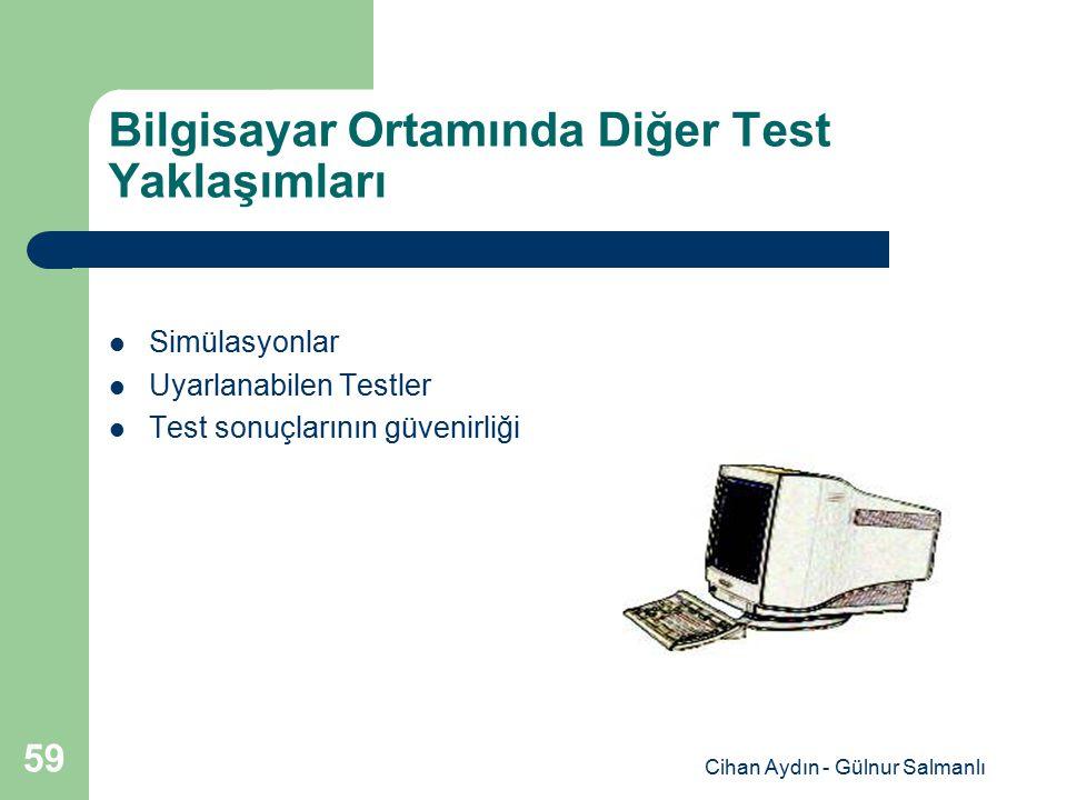 Bilgisayar Ortamında Diğer Test Yaklaşımları