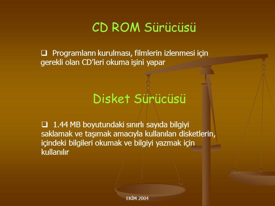 CD ROM Sürücüsü Disket Sürücüsü