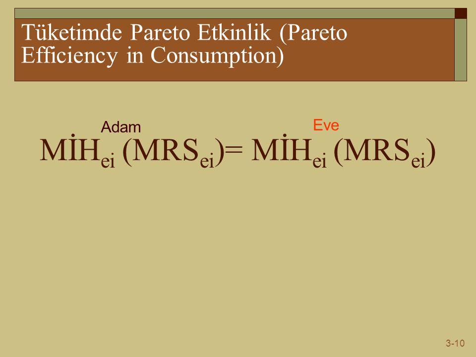 Tüketimde Pareto Etkinlik (Pareto Efficiency in Consumption)