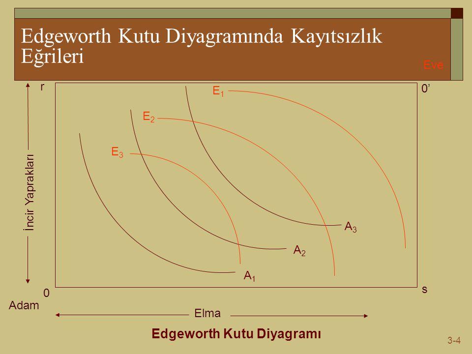Edgeworth Kutu Diyagramında Kayıtsızlık Eğrileri