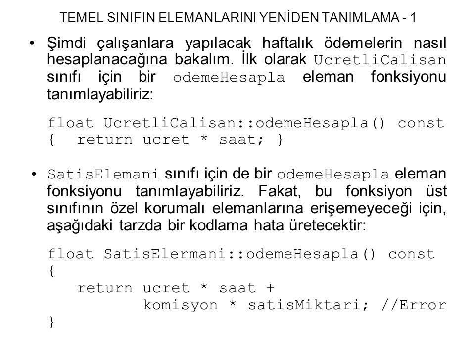 TEMEL SINIFIN ELEMANLARINI YENİDEN TANIMLAMA - 1