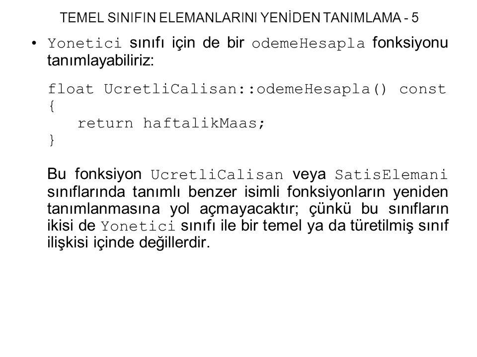 TEMEL SINIFIN ELEMANLARINI YENİDEN TANIMLAMA - 5
