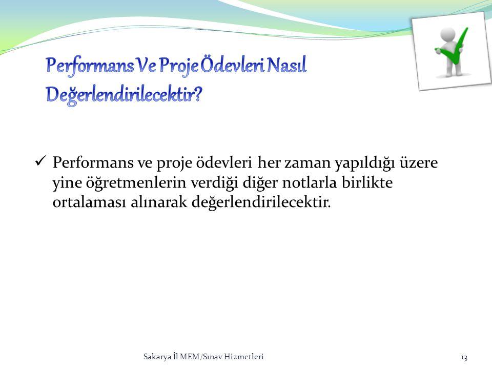 Performans Ve Proje Ödevleri Nasıl Değerlendirilecektir