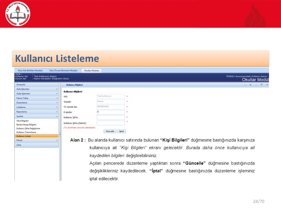 Kullanıcı Listeleme