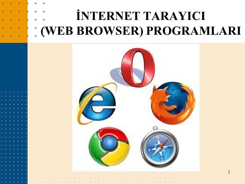 İNTERNET TARAYICI (WEB BROWSER) PROGRAMLARI