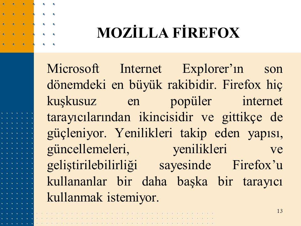 MOZİLLA FİREFOX
