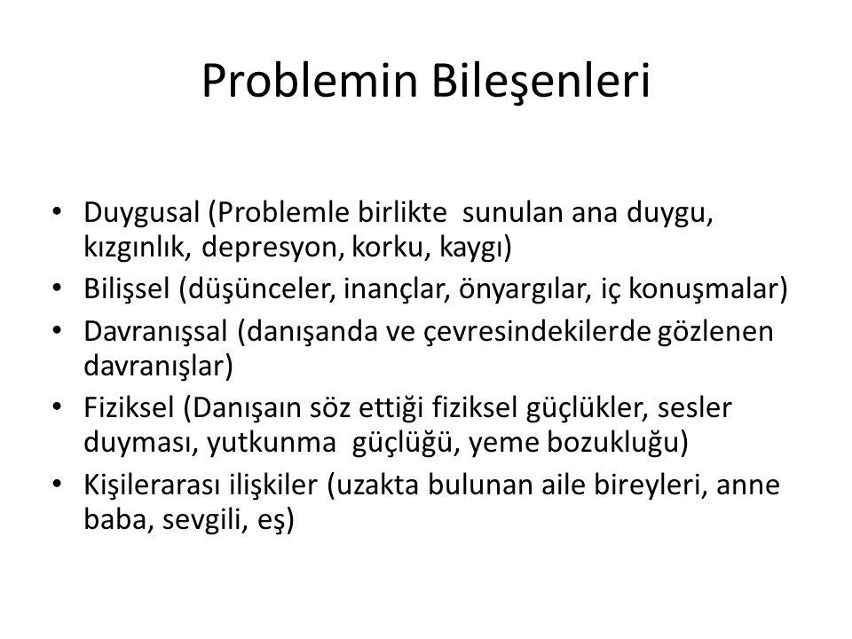 Problemin Bileşenleri