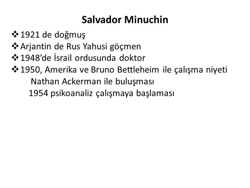 Salvador Minuchin 1921 de doğmuş Arjantin de Rus Yahusi göçmen