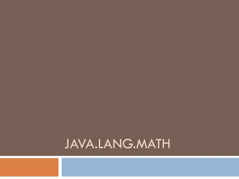 java.lang.math