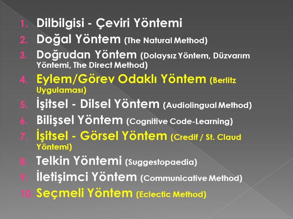 Dilbilgisi - Çeviri Yöntemi Doğal Yöntem (The Natural Method)