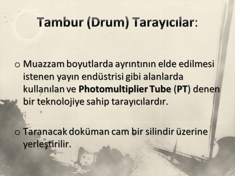 Tambur (Drum) Tarayıcılar: