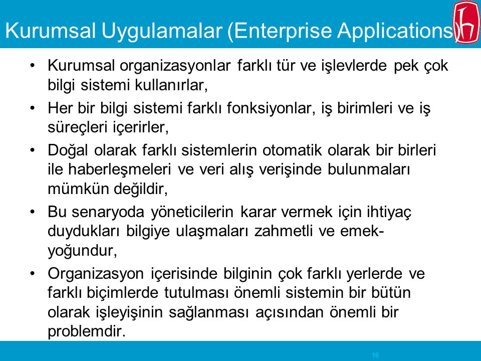 Kurumsal Uygulamalar (Enterprise Applications)