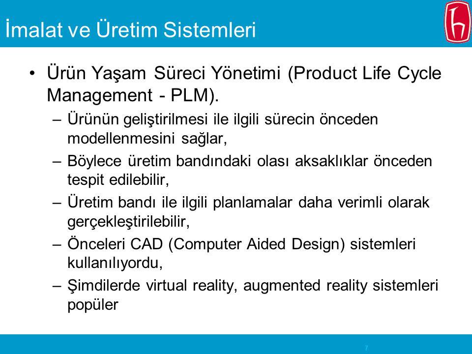 İmalat ve Üretim Sistemleri