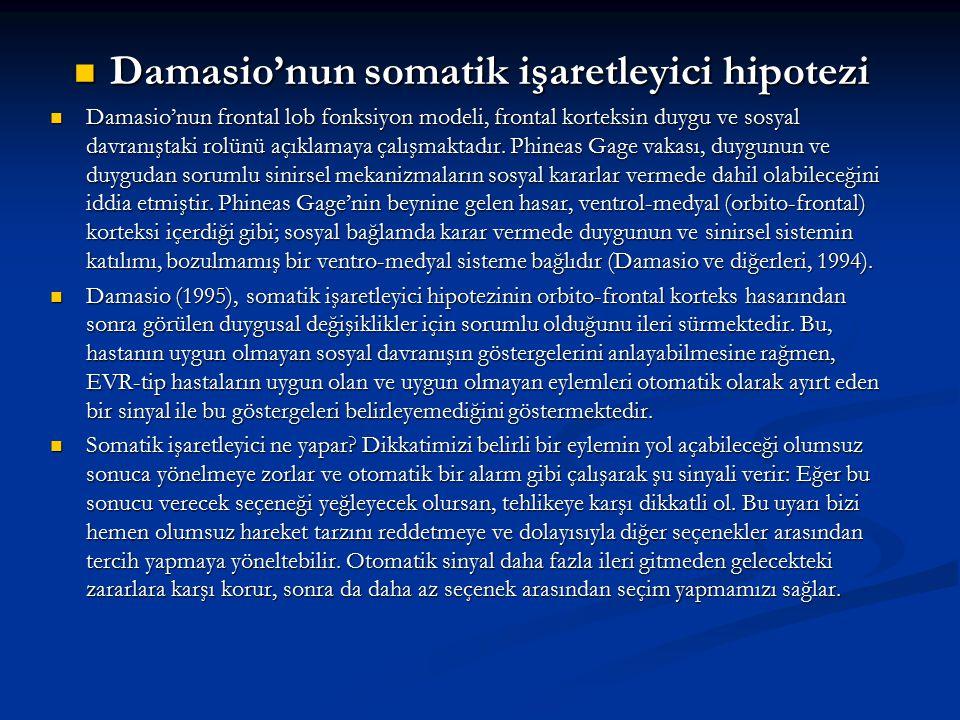 Damasio'nun somatik işaretleyici hipotezi