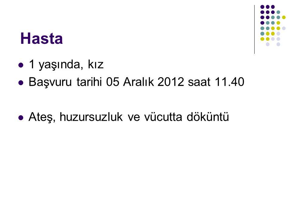 Hasta 1 yaşında, kız Başvuru tarihi 05 Aralık 2012 saat 11.40