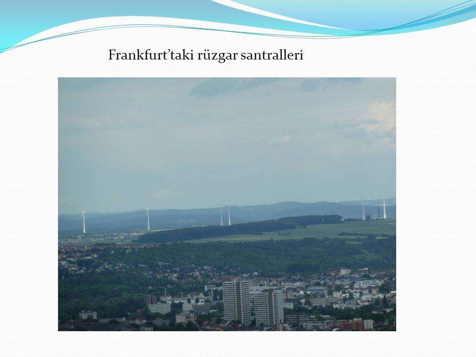 Frankfurt'taki rüzgar santralleri