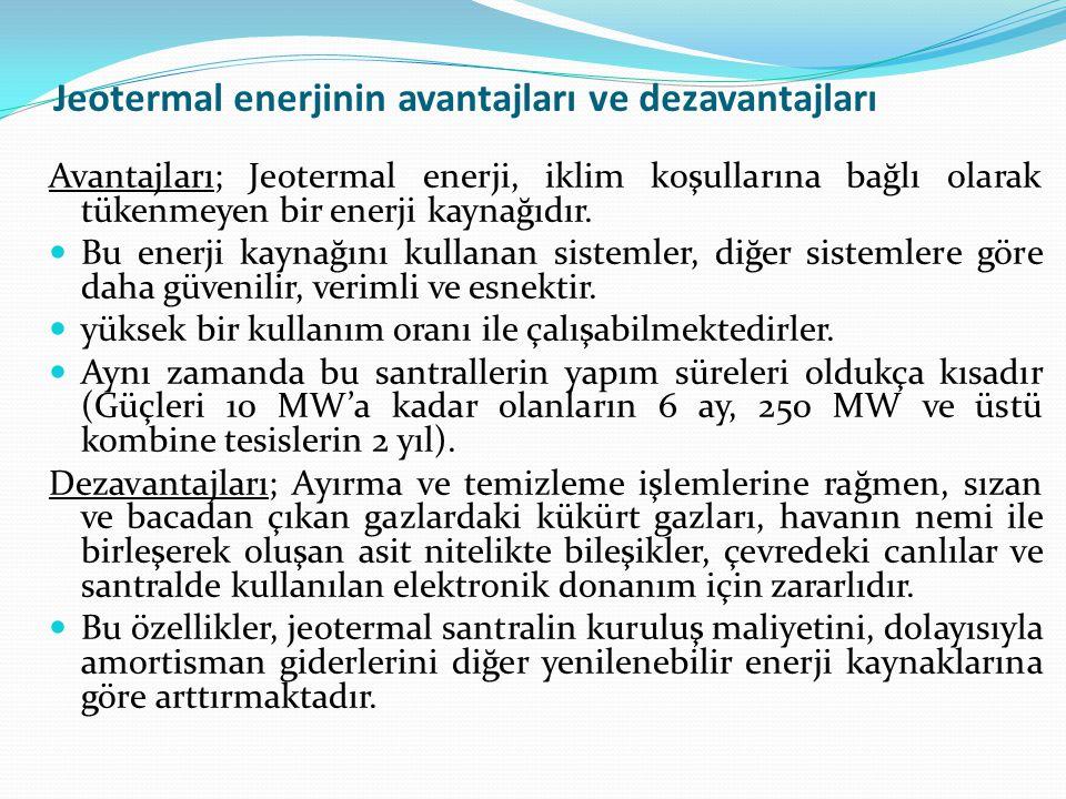 Jeotermal enerjinin avantajları ve dezavantajları