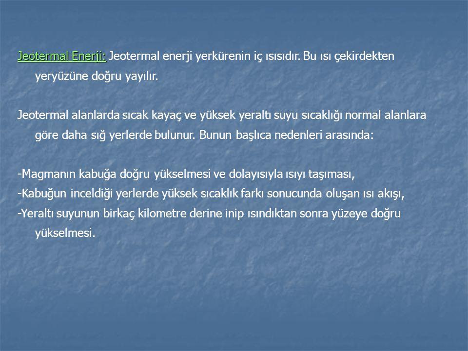 Jeotermal Enerji: Jeotermal enerji yerkürenin iç ısısıdır