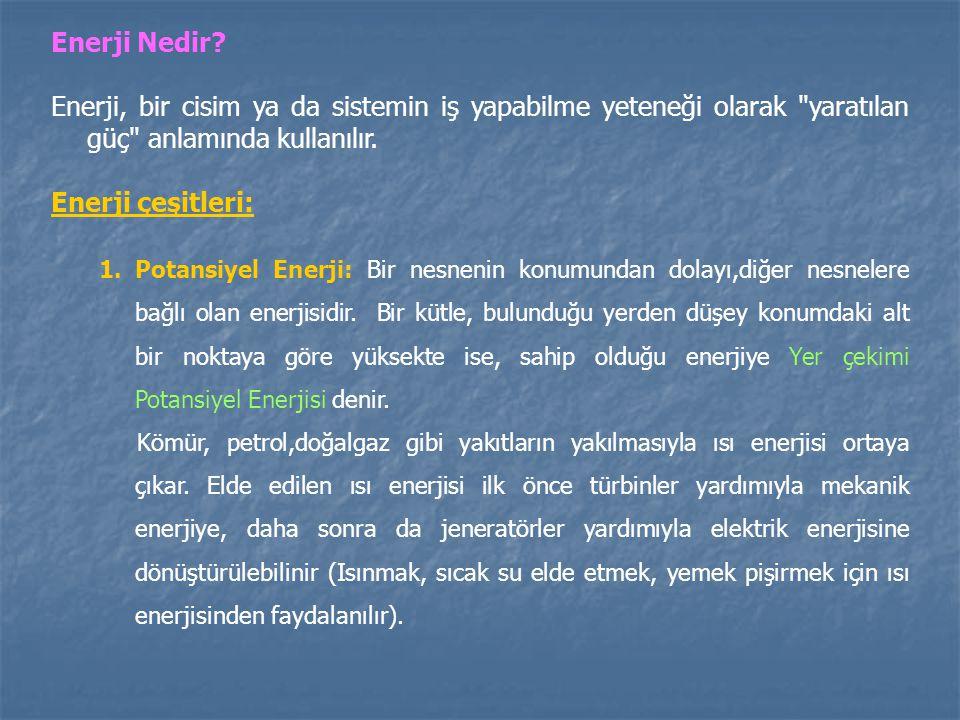 Enerji Nedir Enerji, bir cisim ya da sistemin iş yapabilme yeteneği olarak yaratılan güç anlamında kullanılır.
