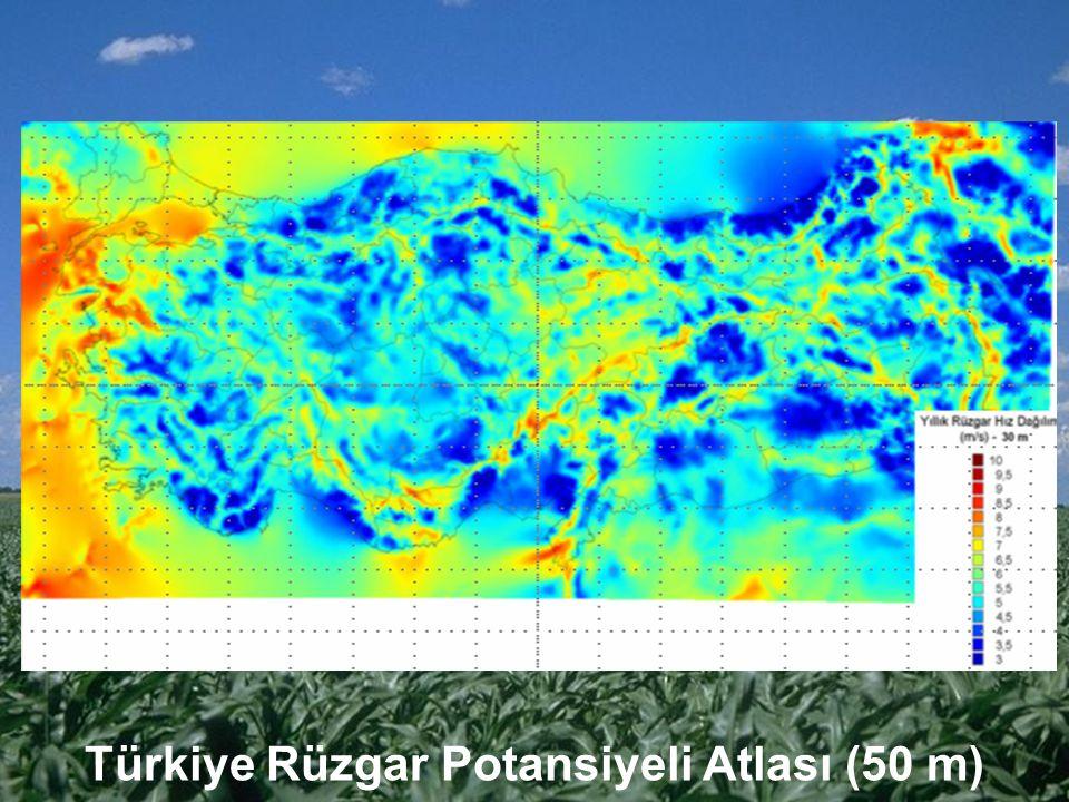 Türkiye Rüzgar Potansiyeli Atlası (50 m)