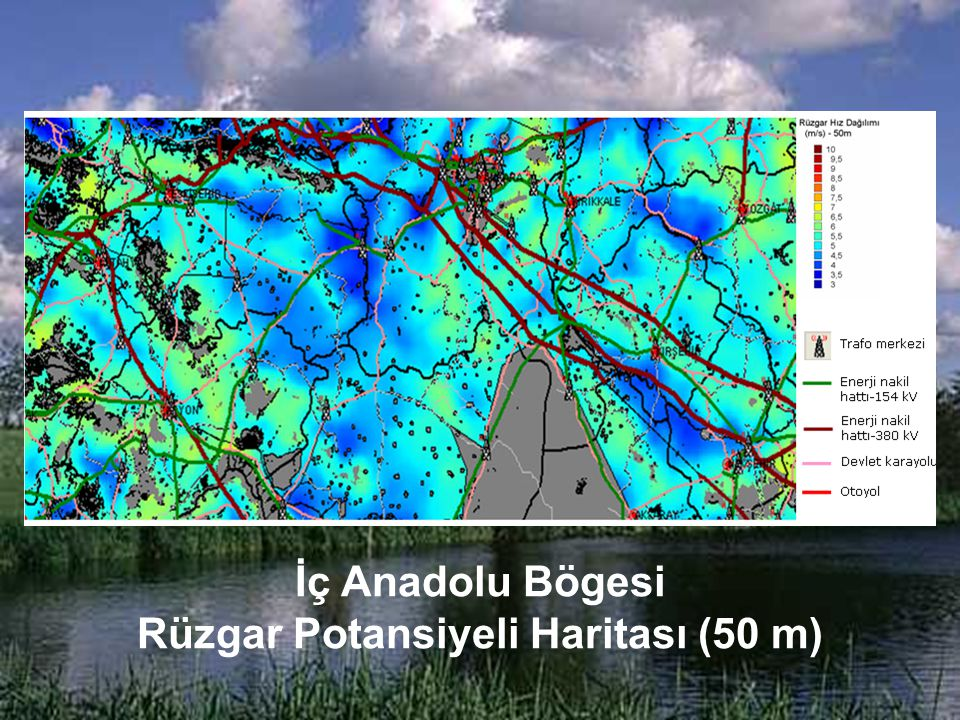 Rüzgar Potansiyeli Haritası (50 m)