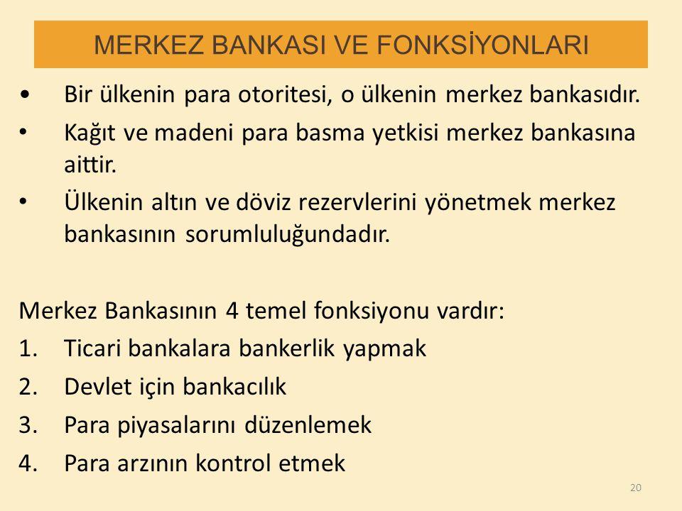 MERKEZ BANKASI VE FONKSİYONLARI