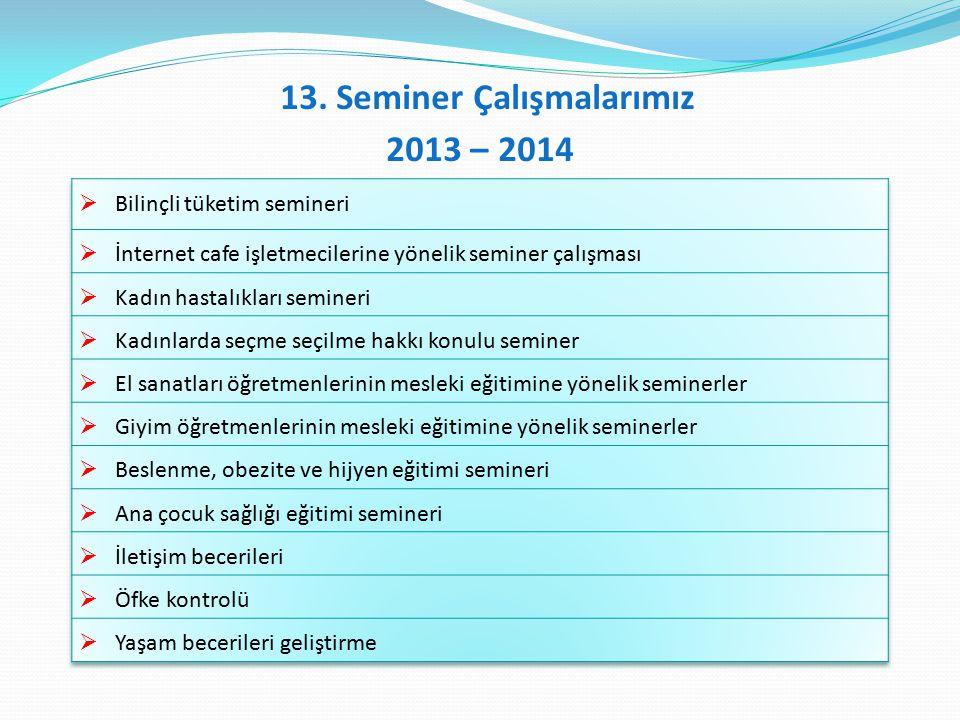 13. Seminer Çalışmalarımız 2013 – 2014