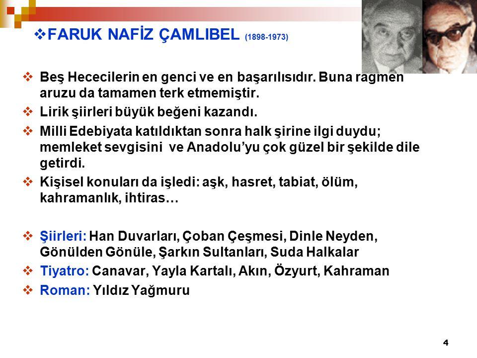 FARUK NAFİZ ÇAMLIBEL (1898-1973)