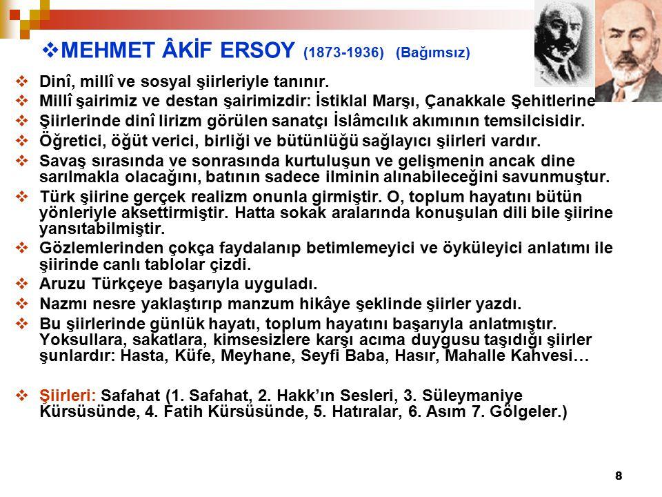 MEHMET ÂKİF ERSOY (1873-1936) (Bağımsız)