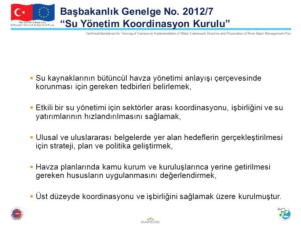 Başbakanlık Genelge No. 2012/7 Su Yönetim Koordinasyon Kurulu