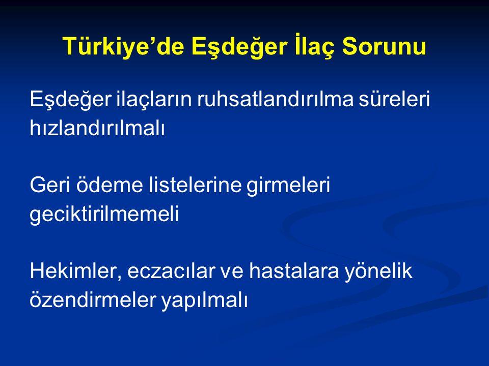 Türkiye'de Eşdeğer İlaç Sorunu